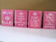 Keep Calm Mum Pink Fridge Magnets with 4 Quotes